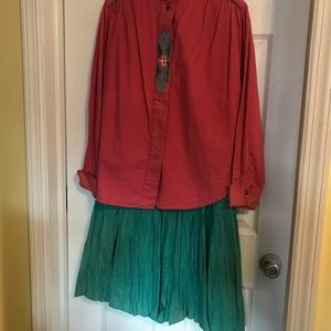 Ladies blouse and skirt set